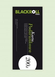 KARTA PODARUNKOWA BLACKROLL®200 PLN
